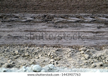 Different layers of dirt with patterns.                              #1443907763