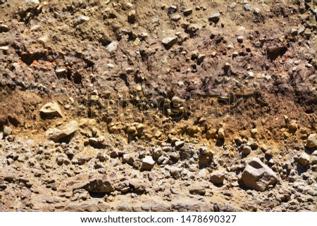 different layers of soil in a gap #1478690327