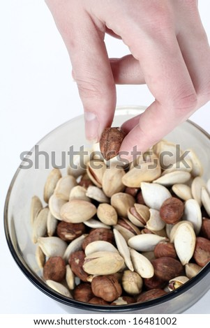 Different nuts (almons, pistachio, seeds).