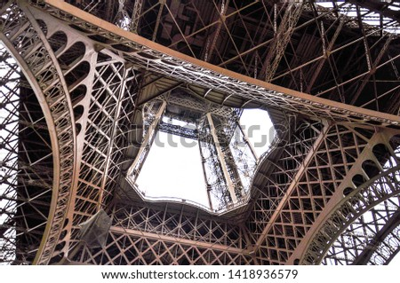 different perspectives of eiffel tower views Paris #1418936579