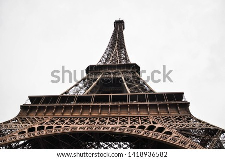different perspectives of eiffel tower views Paris #1418936582