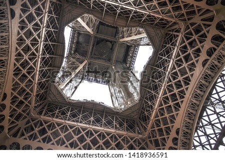 different perspectives of eiffel tower views Paris #1418936591