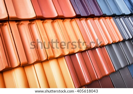 different roof tiles - close up #405618043