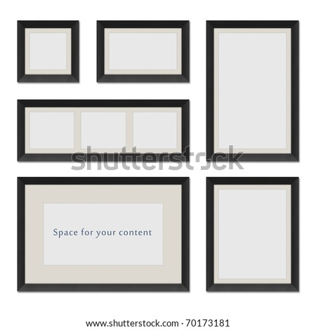 Different shaped black frames for your content