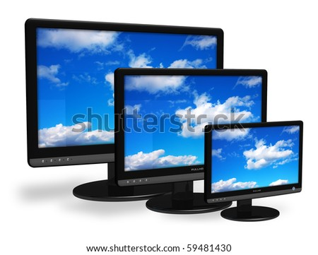 Different size TFT displays