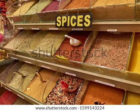 Different spices at Spice Bazaar