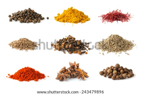 Shutterstock Different spices set on white background