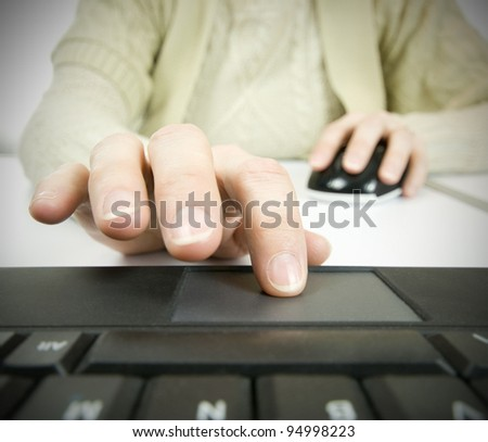 different technology, using computer mouse and touch pad