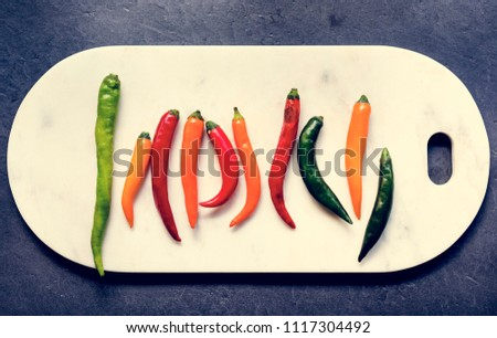 Different types of chilli #1117304492