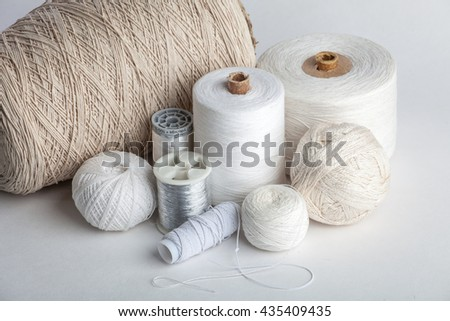 Royalty-free Cotton thread for sewing, wound on a