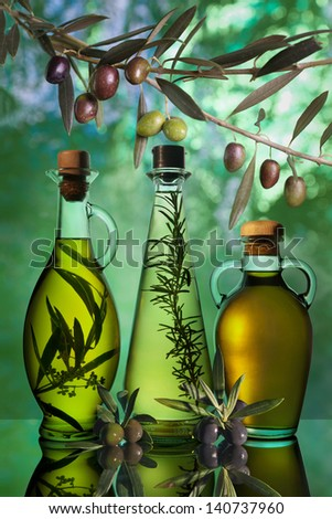 different varieties of olive oil