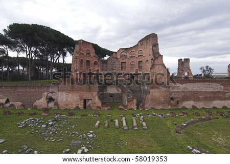 different view of Palatine Hill - Rome