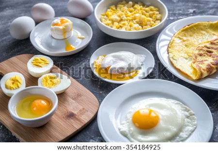 Different ways of cooking eggs #354184925