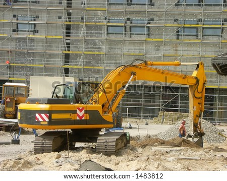 Digger at the construction site