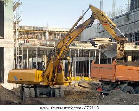 Digger at the construction site 1027_14