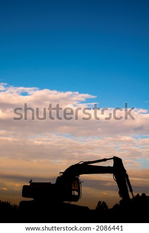 digger sunset silhouette