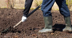 Digging of beds in the spring. Sowing. Preparing the soil for sowing. Home garden. Self-isolation in the village. Household. An article about soil preparation in spring for sowing.