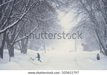 Digging Out of a Blizzard