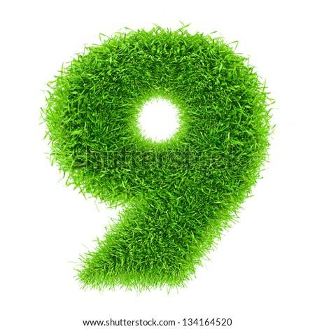 digit symbol 9 of grass alphabet