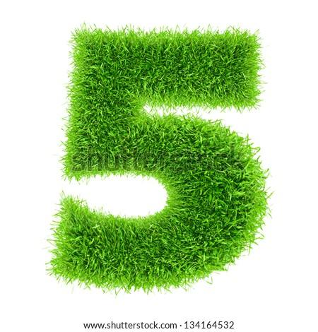 digit symbol 5 of grass alphabet