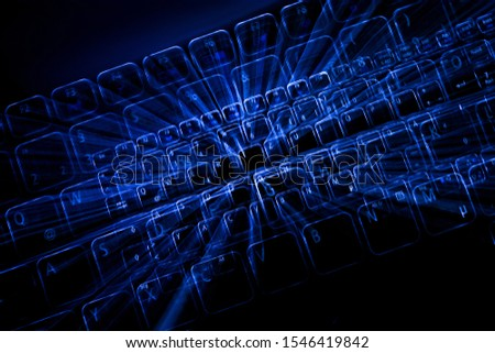 Digital abstract bits data stream, cyber pattern digital background. #1546419842