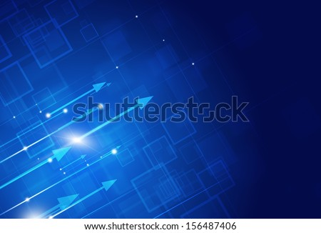 digital abstract business concept on the blue background