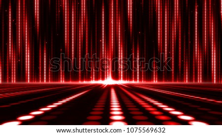 Digital abstract moving light dots pattern for stage background and screensaver