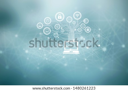 Digital Abstract technology background,2d illustration