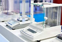 Digital analytical balance in store