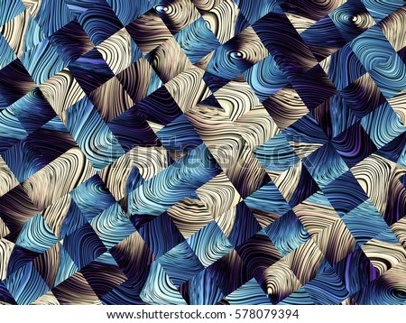 Digital art abstract pattern. Abstract blue image with a small squares