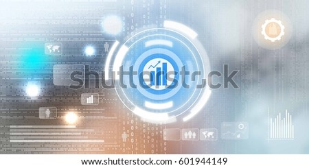 Digital Background business growth concept