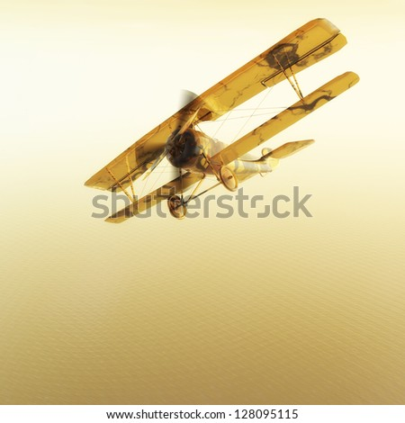 Digital Biplane Visualization - stock photo