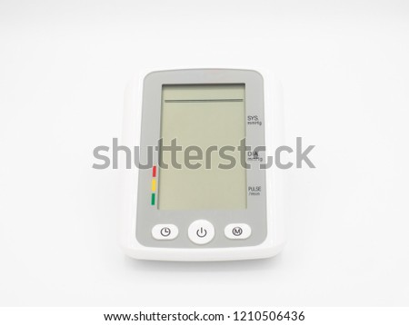 Digital blood pressure monitor, front view #1210506436