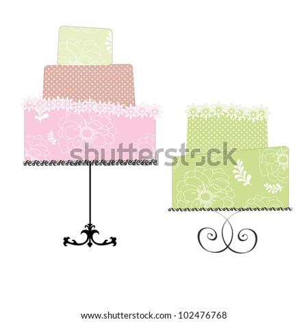 Digital cake clip arts