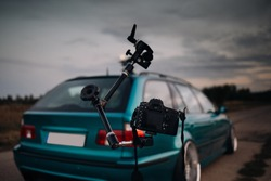 Digital camera and rig shot for car shooting