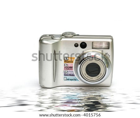 Digital Camera isolated against a white background