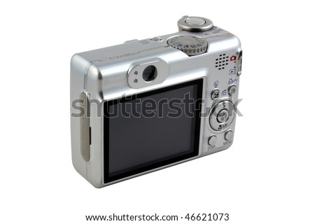 Digital camera isolated on pure white