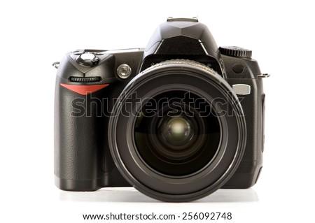 Digital Camera Isolated On White Background #256092748