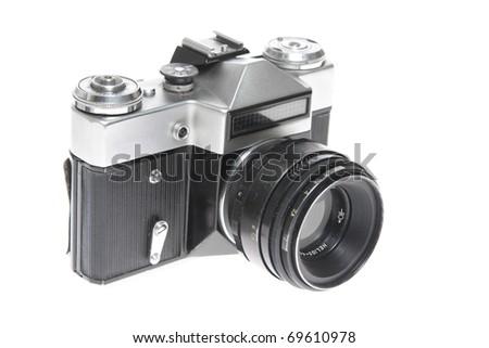 Digital camera isolated on white background