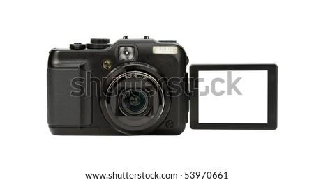 Digital Camera photo isolated on withe background