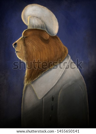 digital caricature of angry chef bear