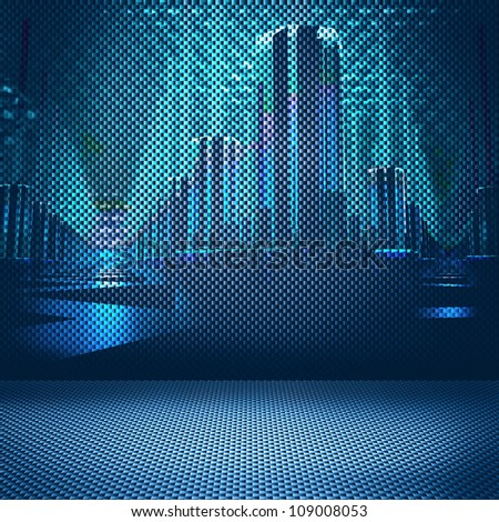 digital city background - stock photo