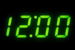 Digital Clock Display set on 12 O'clock