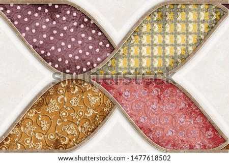 digital colorful wall decore, background texture