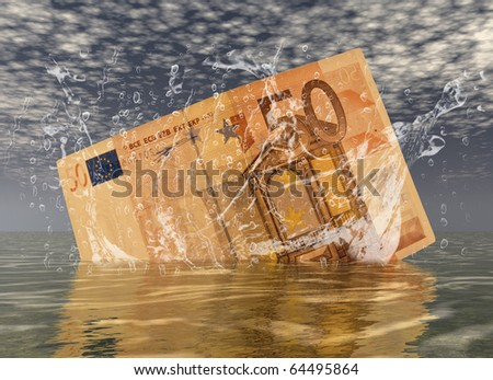 digital composition of a euro note