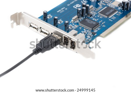 Digital connect via usb port: usb board and cord isolated