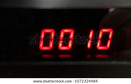 Digital countdown timer. #1072324484