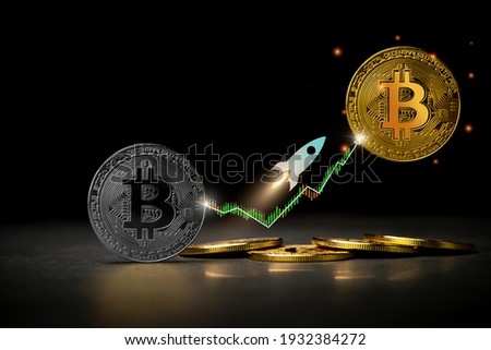 Digital currency bitcoin photo concept