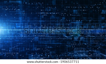 Digital Cyberspace with Particles and Digital Data Network Connections. High Speed Connection and Data Analysis Technology Digital Abstract Background Concept. 3d rendering