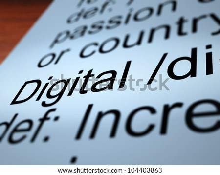 Digital Definition Closeup Shows Binary Values Used In Computers